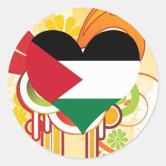 For Kids: Cool Palestine Round Sticker
