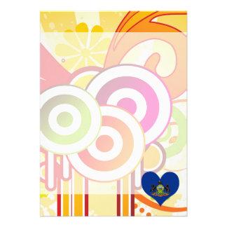 For Kids: Cool Pennsylvania 13 Cm X 18 Cm Invitation Card