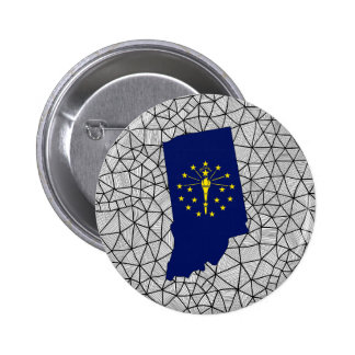 For Kids: Creative Indiana Flag With Map 6 Cm Round Badge
