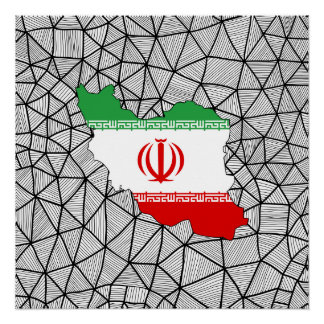 For Kids: Creative Iran Flag With Map Poster