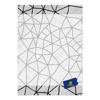 For Kids: Creative Pennsylvania Flag With Map 13 Cm X 18 Cm Invitation Card