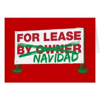 For Lease Navidad - Feliz Navidad Funny Christmas Card