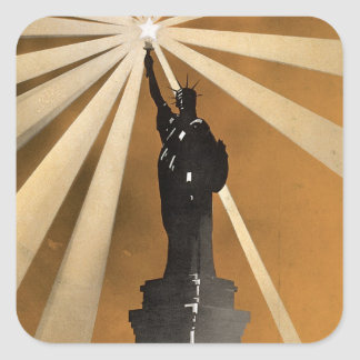 For Liberty's Sake ~ Enlist in the Navy Square Sticker