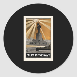 For Liberty's Sake Enlist In The Navy Stickers