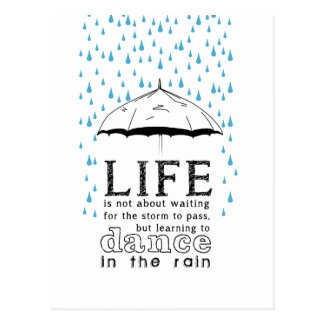 For Life is not about waiting the storm Postcard