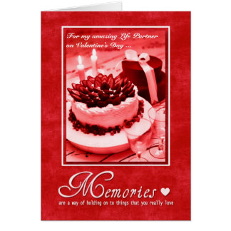 for Life Partner on Valentine's Day - Romantic Card
