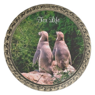 For Life Penguin Collection Plate