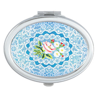 For Love of Lace Oval Compact Mirror