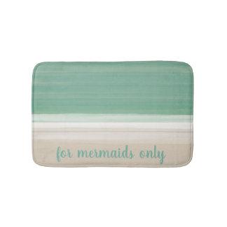 For Mermaids Watercolor Turquoise Sea Bath Mat