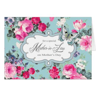 For Mother in Law on Mother's Day Greeting Cards