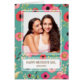 For Mother on Mother's Day. Custom Photo Cards