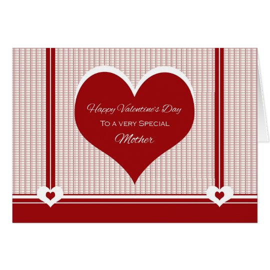 for Mother Valentine's Day Hearts Card