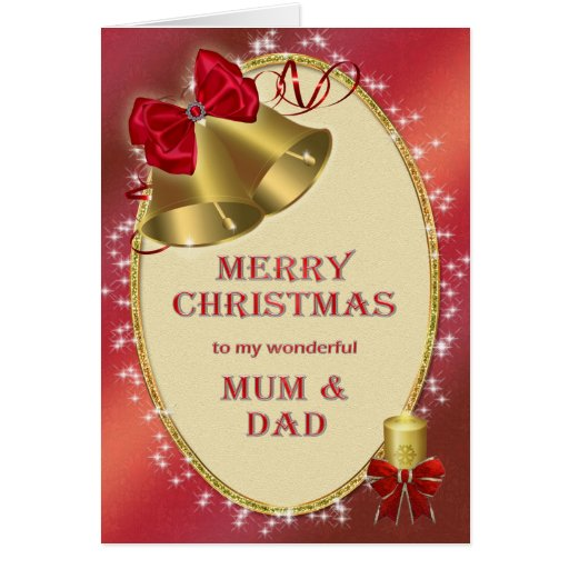For mum and dad, traditional Christmas card