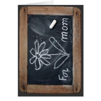 For Mum - Vinatge School Slate Greeting Card