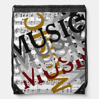 for musicians or music lovers drawstring bag