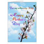 For my Amazing Wife Happy Mother's Day Greeting Card