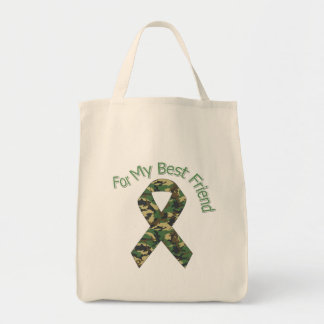 For My Best Friend Military  Ribbon Tote Bag