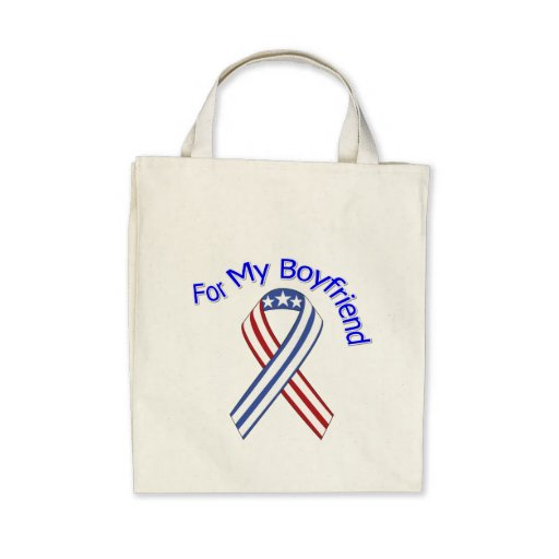 For My Boyfriend Military Patriotic Canvas Bags