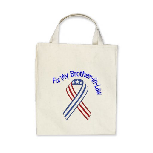 For My Brother-in-Law Military Patriotic Tote Bag