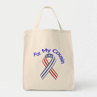 For My Cousin Military Patriotic Tote Bag