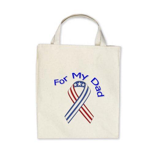 For My Dad Military Patriotic Tote Bag