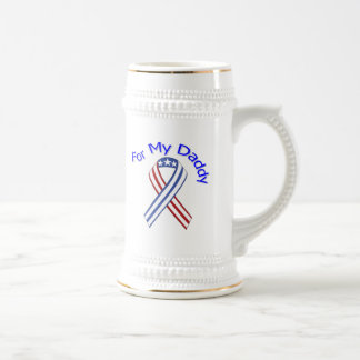 For My Daddy Military Patriotic 18 Oz Beer Stein