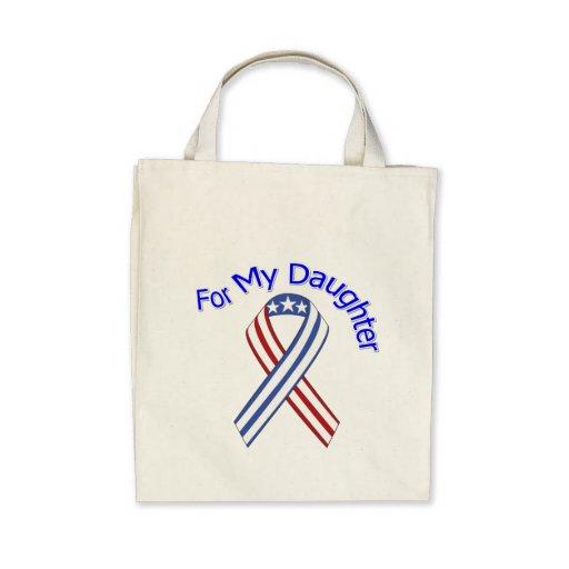For My Daughter Military Patriotic Bags
