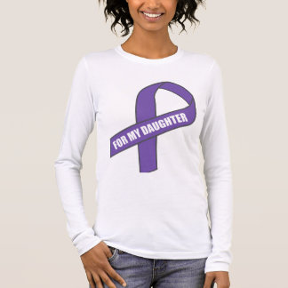 For My Daughter (Purple Ribbon) Long Sleeve T-Shirt