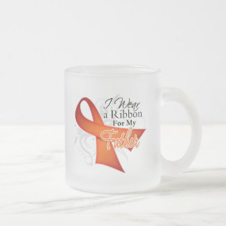 For My Father - Leukemia Ribbon Frosted Glass Mug