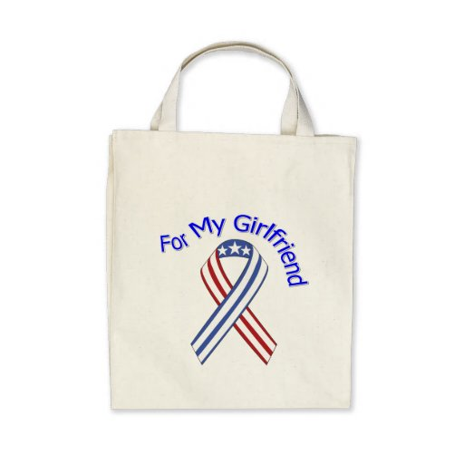 For My Girlfriend Military Patriotic Canvas Bag