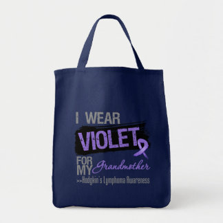 For My Grandmother - Hodgkins Lymphoma Ribbon Grocery Tote Bag