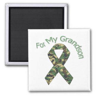 For My Grandson Military Ribbon Magnet