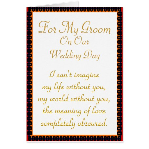 For My Groom: World Before You Card