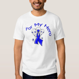 For My Hero Angel Ribbon Colon Cancer Shirts