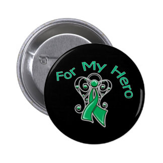 For My Hero Angel Ribbon Liver Cancer 6 Cm Round Badge