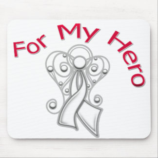 For My Hero Angel Ribbon Lung Cancer Mousepads
