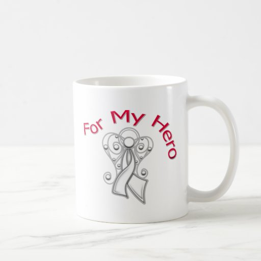 For My Hero Angel Ribbon Lung Cancer Mug