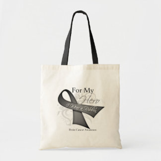 For My Hero I Wear a Ribbon Brain Cancer Bags