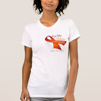For My Hero I Wear a Ribbon Kidney Cancer T Shirt