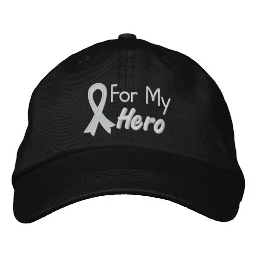 For My Hero - Lung Cancer Embroidered Baseball Cap