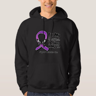 For My Hero My Father - Purple Ribbon Awareness Hoodie