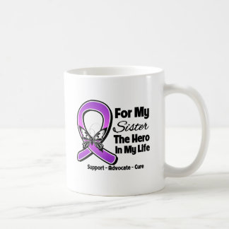 For My Hero My Sister - Purple Ribbon Awareness Mugs