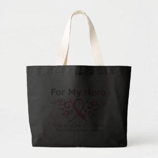 For My Hero Tribal Ribbon Breast Cancer Bag