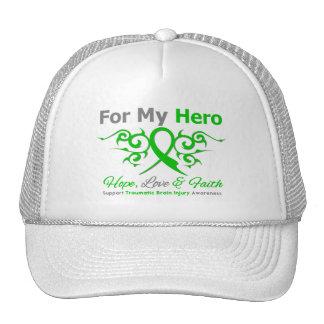 For My Hero Tribal Ribbon Traumatic Brain Injury Hats