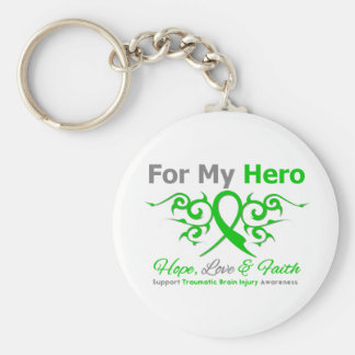 For My Hero Tribal Ribbon Traumatic Brain Injury Key Chains