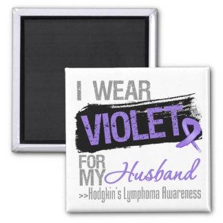 For My Husband - Hodgkins Lymphoma Ribbon Magnet