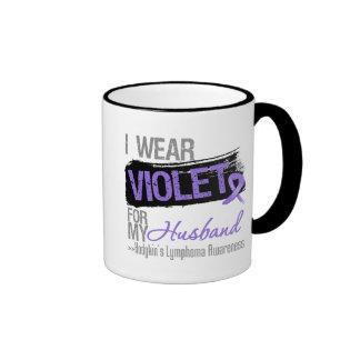 For My Husband - Hodgkins Lymphoma Ribbon Mugs