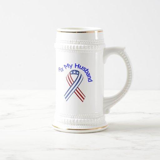 For My Husband Military Patriotic Mug