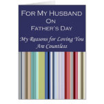 For My Husband on Father's Day Greeting Card