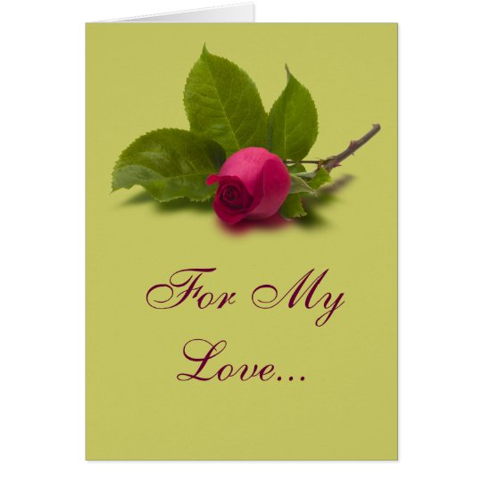 For My Love Red Rose Card